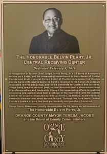 Judge Belvin Perry Dedication Plaque