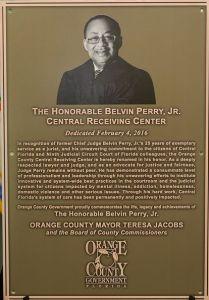 Judge Belvin Perry Dedication Plaque