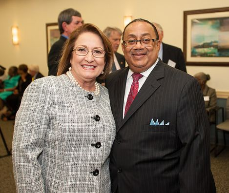 Judge Belvin Perry and Orange County Mayor Teresa Jacobs